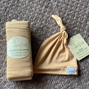 Copper Pearl Swaddle and Hat Set